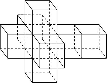 Рисунок 1 Трёхмерная развёртка четырехмерного куба
